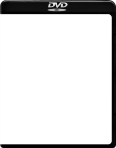 DVD BLACK GLOSSY SQUARE COVER TEMPLATE