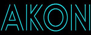 Akon Blue Logo Art