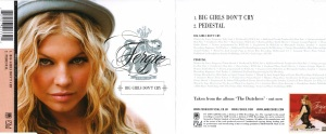 Fergie Big Girl Don't Cry Booklet-1 Single